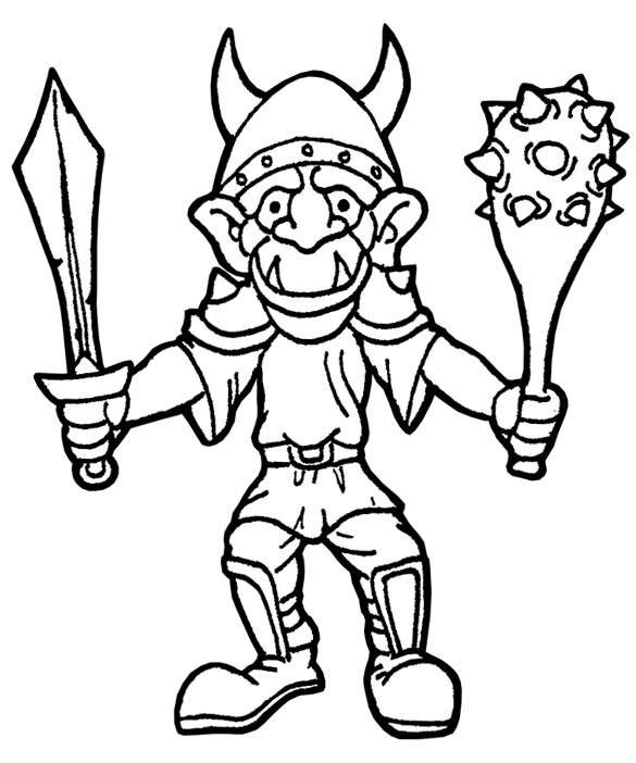 goblin coloring pages - photo#29